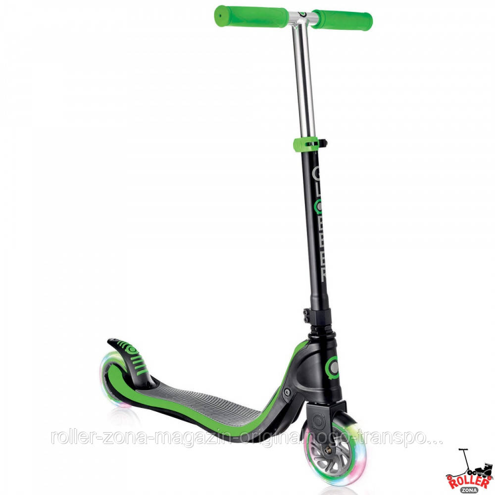 Самокат Globber My TOO FIX UP 125 со светящимися колесами Зеленый, фото 1