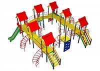 Детский игровой комплекс Мой город , высота горки 1,2 м и 1,5м