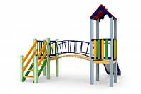 Детский игровой комплекс Солнышко, высота горки 0,9 м