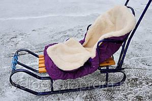 Конверт для санок, колясок на молнии, овчина