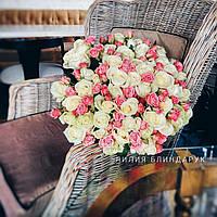 Букет белых и розовых кустовых роз, фото 1