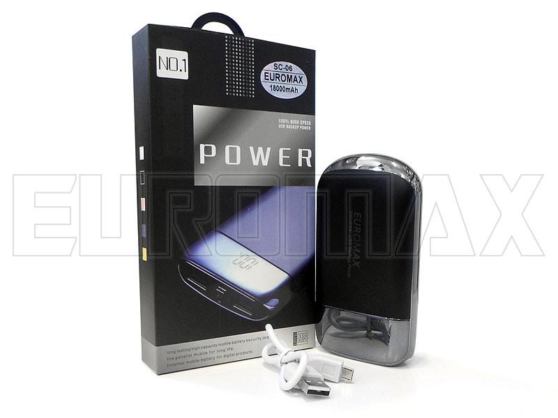 Внешний аккумулятор (power bank) EUROMAX 18000мАч (3600мАч) 100шт SC-06