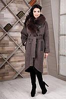 Женское зимнее пальто прямого силуэта