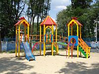 Детский игровой комплекс Шестигранник, высота горки 1,5м