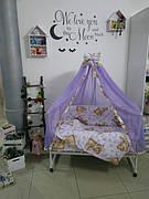 Детское постельное белье в кроватку (без навесного кармана/балдахина)