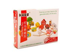 Деревянная логика-шнуровка Kabi