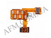 Шлейф (Flat cable) Sony ST27i Xperia Go,   с кнопкой включения,   с контактами разъёма для наушников