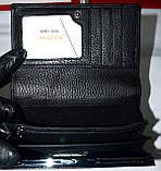Женский черный кожаный кошелек Hassion на кнопке среднего размера, фото 4