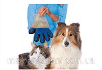 Перчатка для чистки животных PET Brush GLOVE, массажная перчатка, для животных