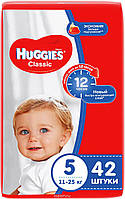 Huggies Подгузники Classic 11-25 кг (размер 5) 42 шт
