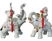 "Набор фигурок ""Слоны на мячах"" 24 см."