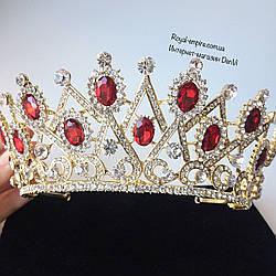 """Шикарна і велика діадема - корона """"Каррмен"""" для нареченої."""