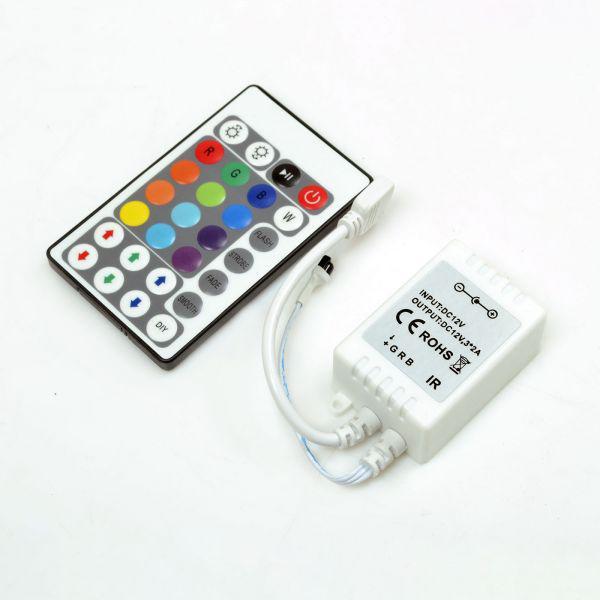 RGB-контроллер IR инфракрасный 6А (28 кнопок на пульте)