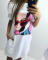 Женское летнее платье оптом с принтом Белоснежка