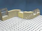 Торговий прилавок зі скляною вітриною з ДСП (з цоколем), фото 3