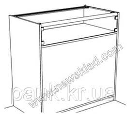 Торговый прилавок со стеклянной витриной с ДСП (с цоколем) ПС2
