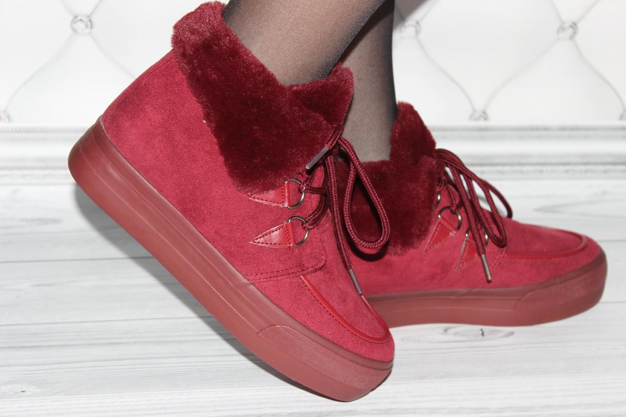 Женские ботинки замш 35 36