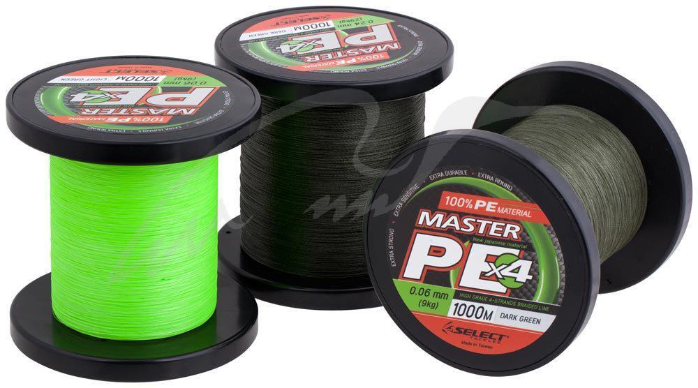 Шнур Select Master PE 1000m (салат.) 0.24мм 29кг