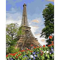 "VP820 Картина по номерам ""Эйфелева башня весной"", 40*50 см, Babylon Turbo"