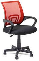 Офисный стул-кресло на колесиках красного цвета Comfort red