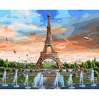 "VP821 Картина по номерам ""Эйфелева башня и ее фонтаны"", 40*50 см, Babylon Turbo"