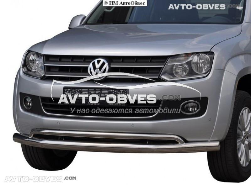Захисний вус для переднього бампера Volkswagen Amarok 2016-...