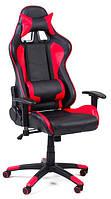 Офисный стул-кресло на колесиках красного цвета Formula red/black