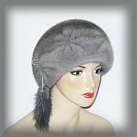 Меховая шапка из серой норки
