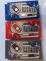 Подарочный набор - ручка+калькулятор+брелок с фонариком)