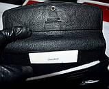 Женский кожаный кошелек Hassion на кнопке черного цвета, фото 5