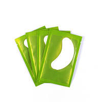 Подушечки (патчи) под глаза: 1 пара в упаковке (зеленая подложка)