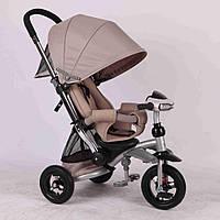 Детский трехколесный велосипед Azimut Crosser T-350 бежевый ***