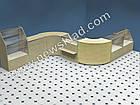 Торговий прилавок кутовий із ламінованого ДСП,(з цоколем) РН 2, фото 4