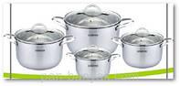 Набор посуды 8 предметов нержавейка Lessner