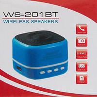 Портативная bluetooth колонка WS-201 BT, портативная акустика