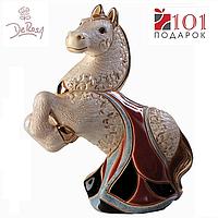 Статуэтка DeRosa - Конь Королевский, керамика, позолота, ручное изготовление