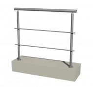 Ограждение нерж округлое для магазина | балкона | офиса ТИП-1 из нержавеющей стали