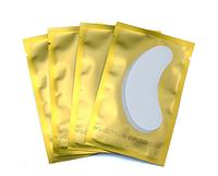Подушечки (патчи) под глаза: 1 пара в упаковке (золотистая подложка)
