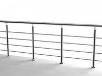 Ограждение из нержавейки округлое для супермаркета | балкона | бассейна | офиса ТИП-3 из нержавеющей стали