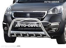 Кенгурятник Peugeot Partner 2015-2018 (облегчённый, AISI304)