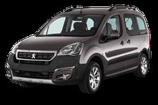 Защита заднего бампера Peugeot Partner (2015-2018)