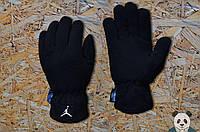 Теплые зимние перчатки на флисе мужские джордан/Jordan