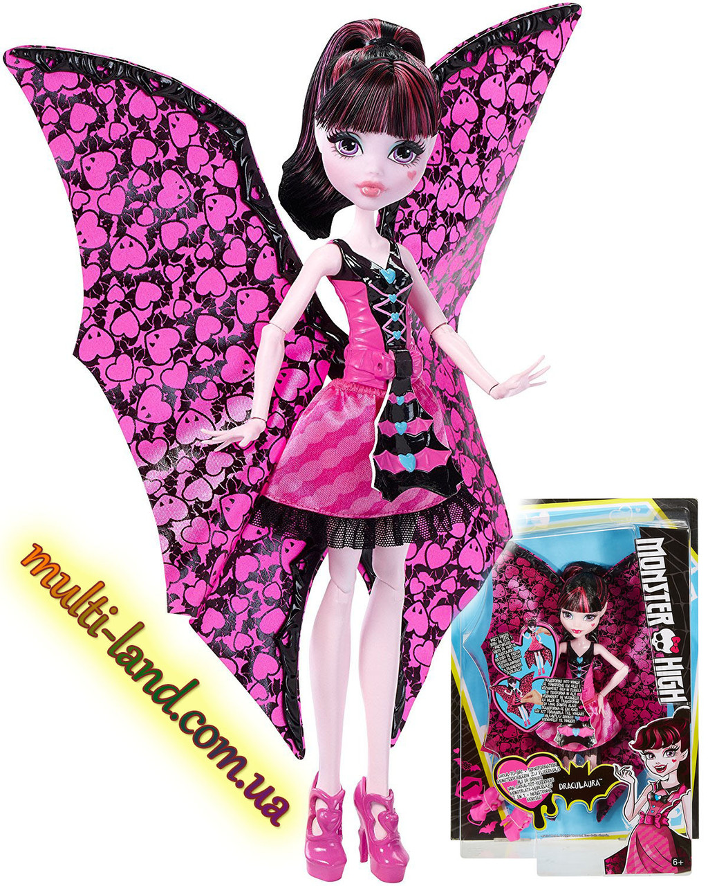 Дракулаура Кукла Монстер Хай  Летучая Мышь Monster High  Transformation Draculaura