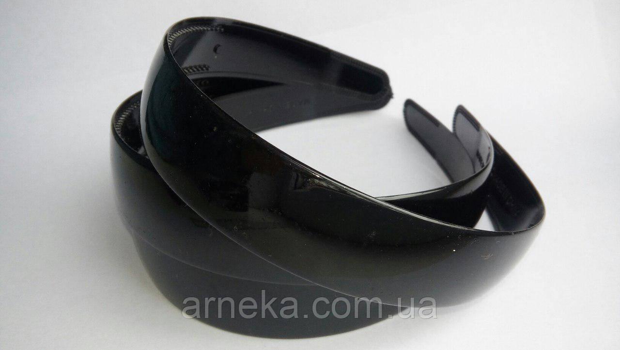 Ободок пластиковый 2,5 см черный