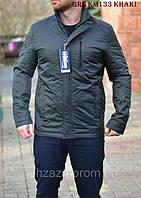 Мужская весенняя куртка-ветровка с капюшоном