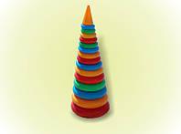 Пирамидка №4 61см 15колец, детская пирамидка, развивающая игрушка