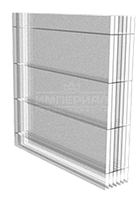 Стільниковий полікарбонат ТМ Solidprof прозорий 16мм