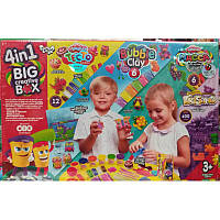 "Набор ""4 в 1 Big Creative Box"", набор для детского творчества, тесто для лепки"