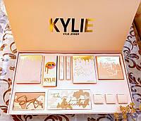 Большой косметический набор в стиле KYLIE Jenner (тени, хайлайтеры, пигменты, матовые помады)