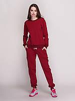Костюм женский, свитшот и штаны, цвет- вишня